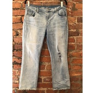 Old Navy flare distressed jeans